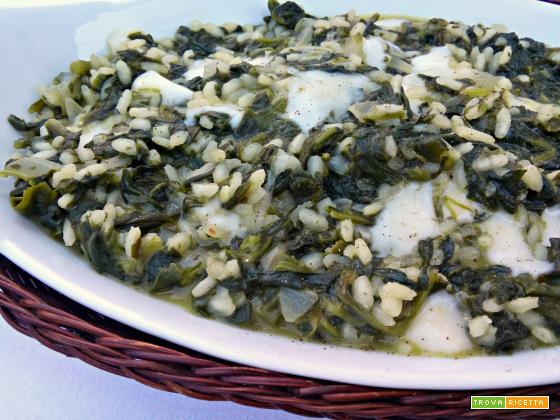 Risotto agli spinaci e scamorza