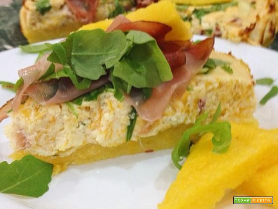 cheesecake di polenta con zucca e ricotta