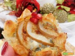 Mini quiche con gorgonzola e pere