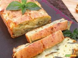plumcake salato con melanzane e fontina
