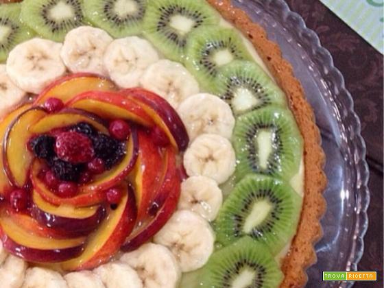 torta di frutta fresca con crema allo yogurt