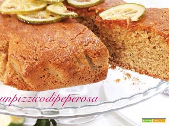 torta integrale al lime caramellato