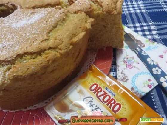 Chiffon cake al cappuccino orzo