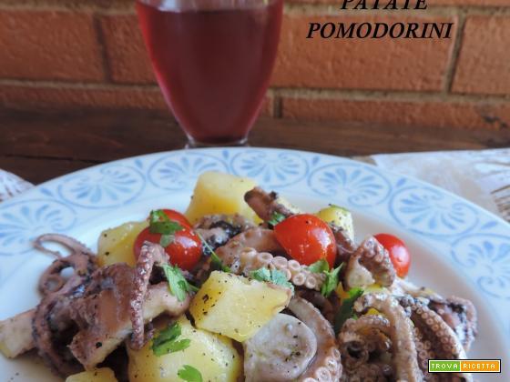Insalata di polpo patate e pomodorini