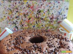 Ciambella ricotta caffè e gocce di cioccolato