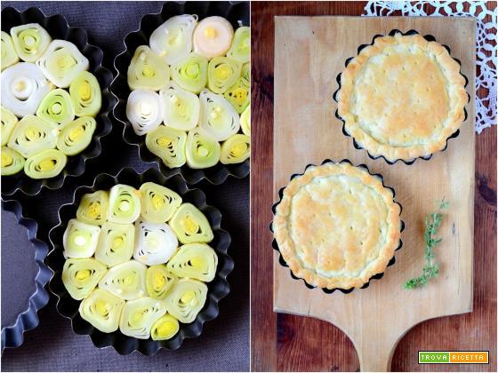 Tarte tatin di porri al limone con salsa allo yogurt greco