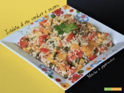 Insalata di riso verdure e zenzero