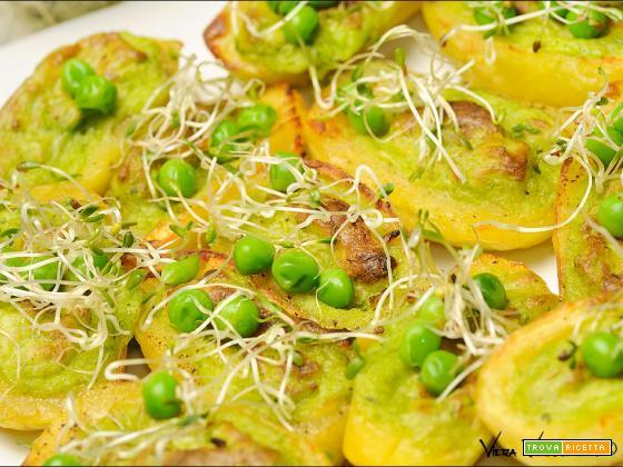 Barchette di patate e alfalfa