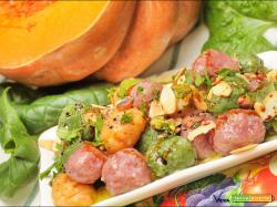 Chicche di patate tricolore