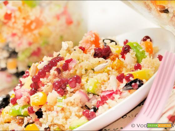 Couscous esagerato con caviale alla frutta