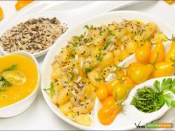 Gnocchi inseminati e salsa gialla