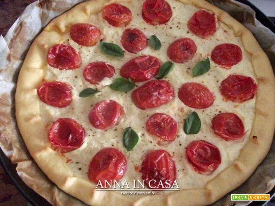 Torta di kamut con ricotta e pomodorini