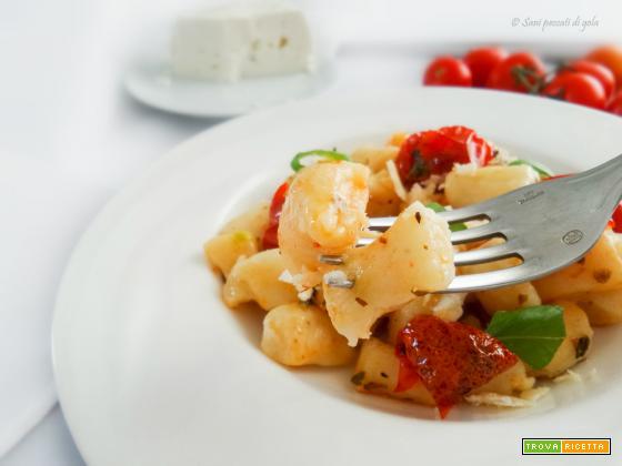 Gnocchi di cacioricotta con pomodorini arrosto e basilico fresco