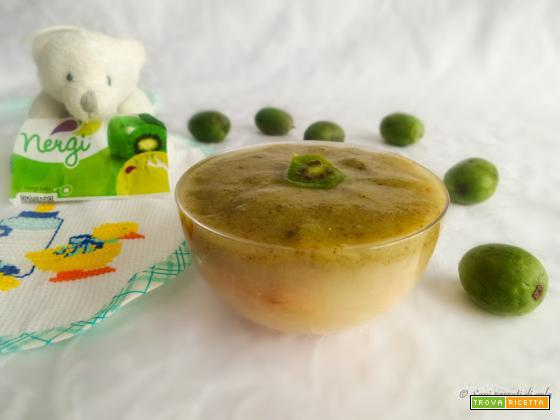 Tiramisù con baby kiwi Nergi e pere – ricetta per bambini