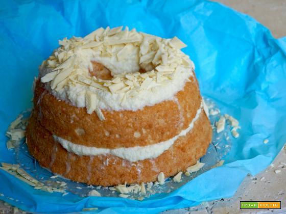 Angel Cake con Ganache al Cioccolato Bianco