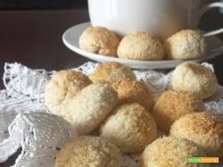 Biscotti da dessert al cocco.