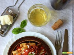 Gnocchi di amaranto con melanzane, pomodori secchi e ricotta salata (senza glutine) per l'MTC n°59