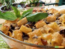 Pasta gratinata con melanzane e guanciale|primi piatti