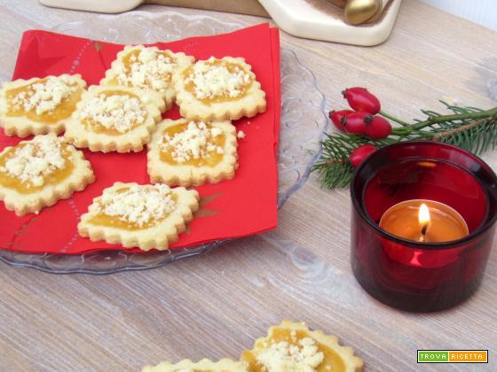 Biscotti con albicocca e streusel