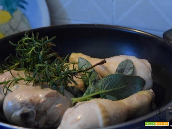Pollo al vino bianco e rosmarino