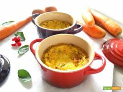 Cocotte di stracchino e carote alla curcuma
