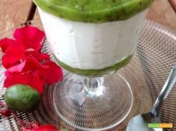Mousse di yogurt al limone con coulis di NERGI (il delizioso baby kiwi)