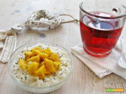 Tutta la leggerezza del risolatte al mango e semi di chia e infuso ai frutti esotici