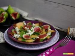 Insalata di fichi, melone e Gorgonzola