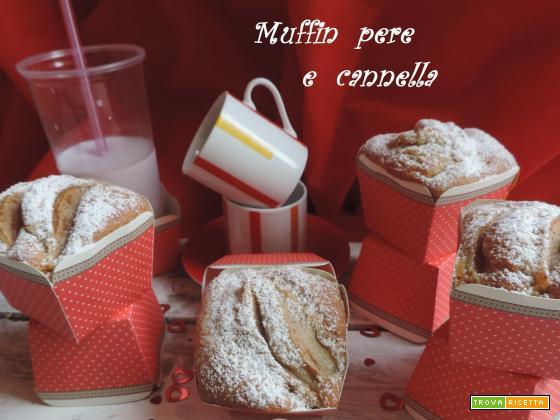 Muffin pere e cannella ( senza burro)