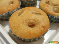 Muffin con olio, uva e profumo di vaniglia