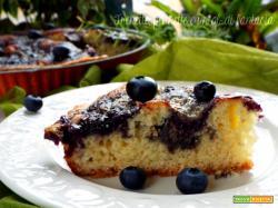 Torta ai mirtilli  golosa e morbida|ricetta dolce