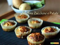 Muffins salati di zucchine e patate con provola affumicata