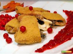 Arista di maiale con funghi e salsa ribes