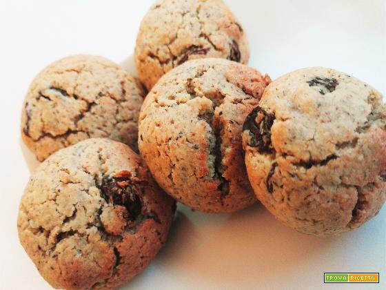 Biscotti al grano saraceno e uvetta