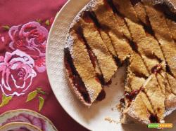 Crostata con farina di grano saraceno alle 5 spezie e confettura di ribes (gluten free)