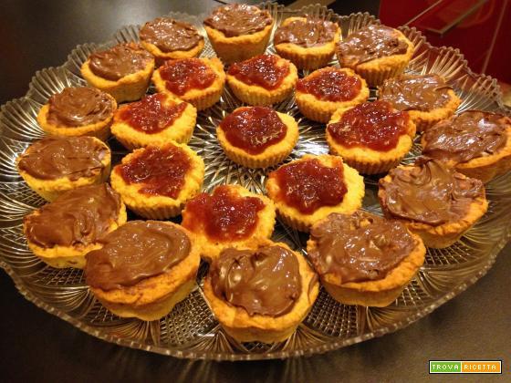 Con e Senza Bimby, Crostata alla Crema di Latte di Soia al Cioccolato e Fichi e Pasticcini con Marmellata di Fragoline di Bosco e Nutella