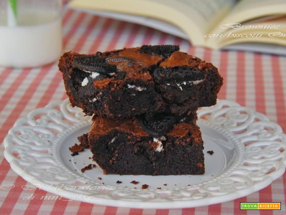 BROWNIES CON BISCOTTI OREO
