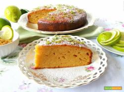 Torta glassata al lime e panna acida – senza burro