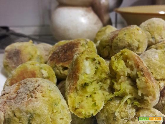 Polpette di zucchine con formaggio al forno