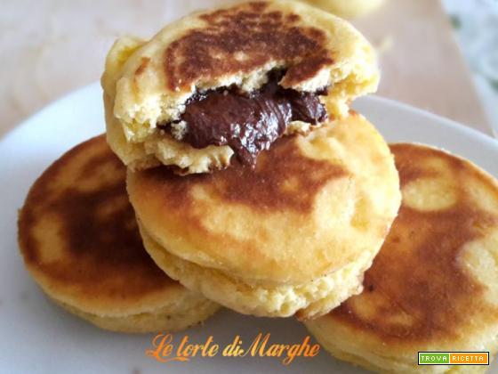 Biscotti ripieni di nutella – cotti in padella –