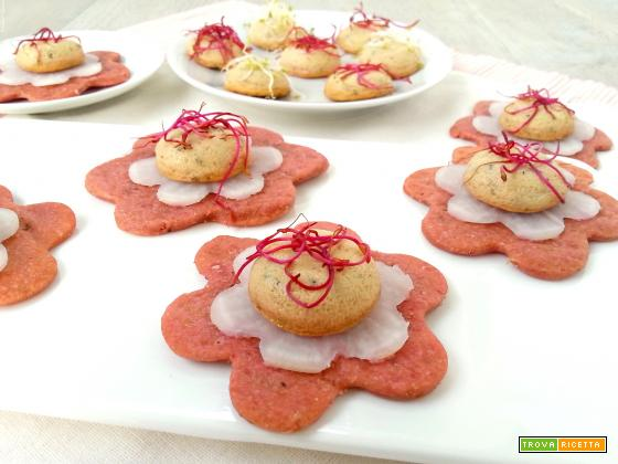 Finger food vegetariani su cialda light