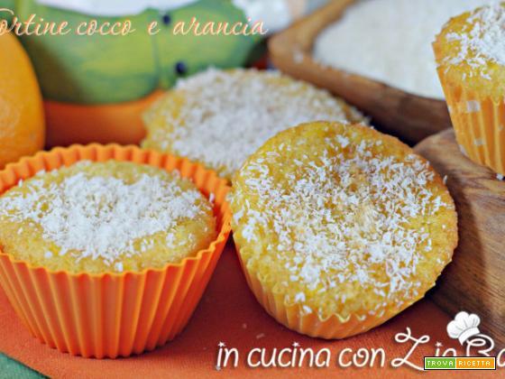 Tortine cocco e arancia – muffins