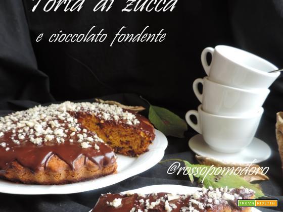 Torta di zucca e cioccolato fondente (senza burro)