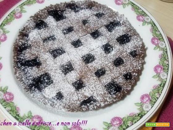 Crostata al Cacao con Ciliegie di Gloria KitchenUSA
