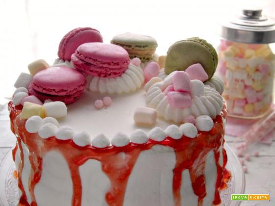 Drip cake con gelatina di mele cotogne