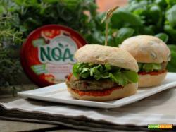 NOA – NATURALE, ORIGINALE E AUTENTICO: Burger veg di melanzane e pomodori secchi