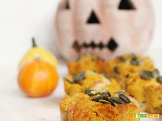 Muffin salati con Zucca e Scamorza... Halloween is coming!!