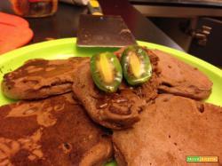 Con e Senza Bimby, Pancakes Cioccolato e Cannella con Sciroppo d'Agave e Nergi