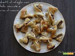 Dolcetti di sfoglia con nutella nocciole e farina di cocco