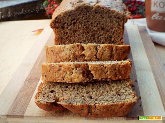 Plumcake morbido panna caffè e biscotto